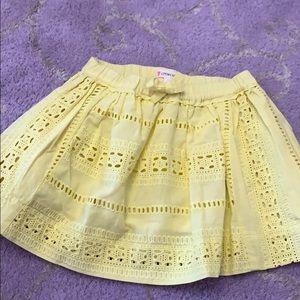 Crewcuts 2T yellow eyelet skirt. BRAND NEW.